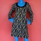 Wrapper Retro Mod Dress S 4 6 8 Geometric Mini Short Glitter Sparkle Travel