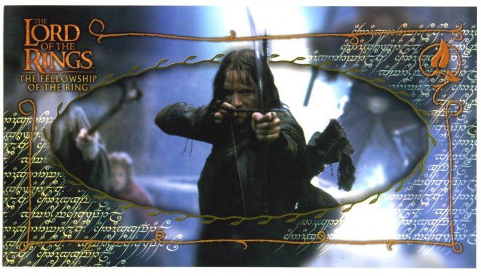 Czech Fellowship Postcard - Aragorn in Moria