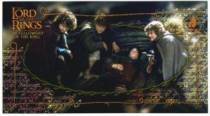 Czech Fellowship Postcard - Hobbits 2 Frodo Wounded