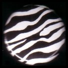 "1"" Inch Zebra Print Background Punk Princess Button Badge Pin - 0754"