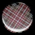 Pretty in Plaid in Red  1 Inch Pin Back Button Badge  - 1051