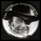 John Wayne The One and Only True Grit, Hollywood Movie Stars 1 Inch Button Badge Pin