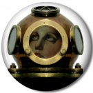 Lady Diver 2, Steampunk 1 Inch Pinback Button Badge - 6050