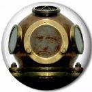 Gentleman Diver 1, Steampunk 1 Inch Pinback Button Badge - 6051