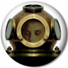 Lady Diver 3, Steampunk 1 Inch Pinback Button Badge - 6052