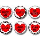 Conversation Valentine's Day 1 Inch Scrapbooking Flair Medallions Set of 12