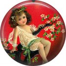 Vintage Valentine's Day Graphics 1 Inch Pinback Button Badge - 2087