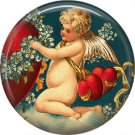Vintage Valentine's Day Graphics 1 Inch Pinback Button Badge - 2090