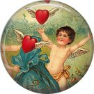 Vintage Valentine's Day Graphics 1 Inch Pinback Button Badge - 2091