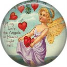 Vintage Valentine's Day Graphics 1 Inch Pinback Button Badge - 2094