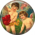 Vintage Valentine's Day Graphics 1 Inch Pinback Button Badge - 2095