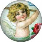 Vintage Valentine's Day Graphics 1 Inch Pinback Button Badge - 2096