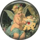 Vintage Valentine's Day Graphics 1 Inch Pinback Button Badge - 2099