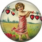 Vintage Valentine's Day Graphics 1 Inch Pinback Button Badge - 2098