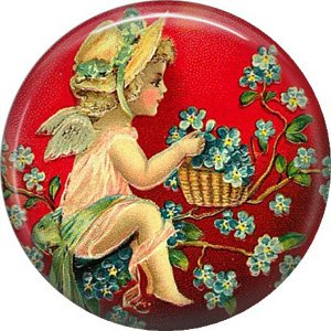 Vintage Valentine's Day Graphics 1 Inch Pinback Button Badge - 2101