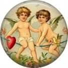 Vintage Valentine's Day Graphics 1 Inch Pinback Button Badge - 2102