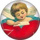 Vintage Valentine's Day Graphics 1 Inch Pinback Button Badge - 2106