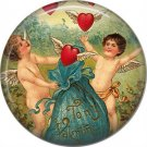 Vintage Valentine's Day Graphics 1 Inch Pinback Button Badge - 2107