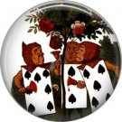Painting the Roses Red, Classic Alice in Wonderland 1 Inch Button Badge Pin - 0046