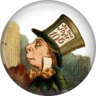 Mad Hatter, Classic Alice in Wonderland 1 Inch Button Badge Pin - 0042