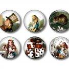 Alice in Wonderland 12 1 Inch Scrapbooking Flair Medallions - Set 1