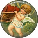 Vintage Valentine's Day Graphics 1 Inch Pinback Button Badge - 2111