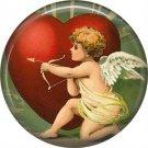 Vintage Valentine's Day Graphics 1 Inch Pinback Button Badge - 2115