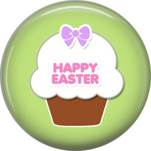 Bunny Love, Easter 1 Inch Button Badge Pin Pinback Button - 2039