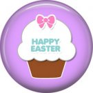 Bunny Love, Easter 1 Inch Button Badge Pin Pinback Button - 2049