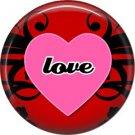 Wild Love Valentine's Day 1 Inch Pinback Button Badge Pin - 2120
