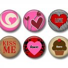 Wild Love Valentine's Day 12 1 Inch Pinback Button Badge Pins - Set 1