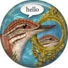 hello, Talking Birds 1 Inch Pinback Button Badge Pin - 4009