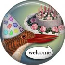 Talking Birds 1 Inch Pinback Button Badge Pin - 4022