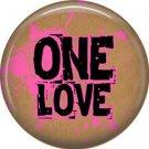 Wild Love Valentine's Day 1 Inch Pinback Button Badge Pin - 2133