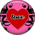 Wild Love Valentine's Day 1 Inch Pinback Button Badge Pin - 2137