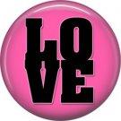 Wild Love Pink Love Valentine's Day 1 Inch Pinback Button Badge Pin - 2146