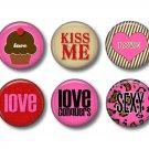 Wild Love Valentine's Day Set of 12 1 Inch Scrapbook Flair Medallions - Set 3