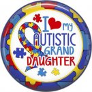 I Love my Autistic Grand Daughter Puzzle Border, Autism Awareness 1 Inch Pinback Button Badge - 6029