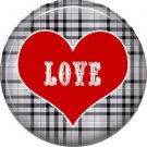 Wild Love Love in Red Heart Valentine's Day 1 Inch Pinback Button Badge Pin - 2158