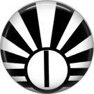 Art Deco Sunburst Alphabet Letter I, 1 Inch Button Badge Pin