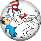 The Cat in the Hat Doctoring Nick, Dr. Seuss 1 Inch Pinback Button Badge - 6048