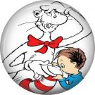 Nick Checking out the Hat, Dr. Seuss 1 Inch Pinback Button Badge - 6045