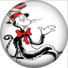 The Cat in the Hat Sitting, Dr. Seuss 1 Inch Pinback Button Badge - 6042