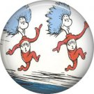 Thing 1 and Thing 2 on the Go, Dr. Seuss 1 Inch Pinback Button Badge - 6041