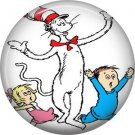 The Cat in the Hat Troublemaker, Dr. Seuss 1 Inch Pinback Button Badge - 6039