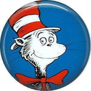 The Cat in the Hat, Dr. Seuss 1 Inch Pinback Button Badge - 6038