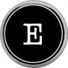 1 Inch Alphabet Letter E Button Badge Pin Resembling Vintage Typewriter Keys