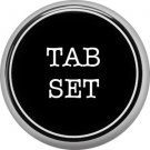 1 Inch Alphabet Tab Set Button Badge Pin Resembling Vintage Typewriter Keys