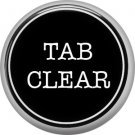 1 Inch Alphabet Tab Clear Button Badge Pin Resembling Vintage Typewriter Keys