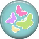 Butterflies on Blue Background 1 Inch Button Badge Pin Pinback Button - 2062